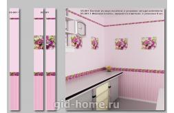Стеновые панели ПВХ. Букет розовый.