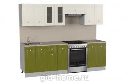 Модульная кухня Сити 2,4 м олива-ваниль