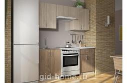 Кухонный гарнитур Дарья 3 шимо светлый, темный