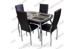 Обеденная группа стол и стулья  № 4
