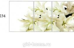 Рисунок для стола Асти фото R 234 лилии на белом фоне