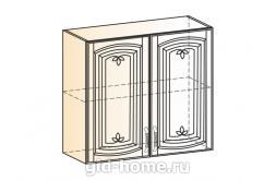Венеция шкаф навесной L800 H720 (2 двери глухие)