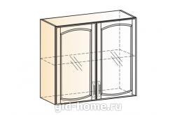 Венеция шкаф навесной L800 H720 (2 двери рамочные)