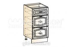 Венеция шкаф рабочий L400 (3 ящика)