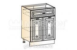 Венеция шкаф рабочий L600 (2 двери глухие, 1 ящик)