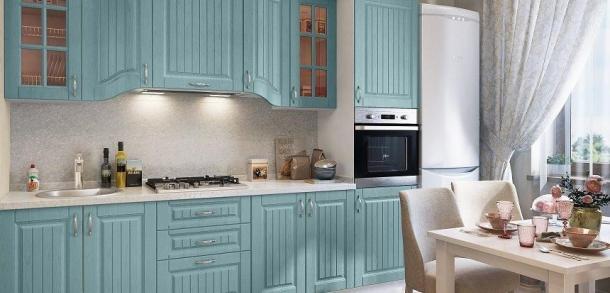 Кухня в классическом стиле Эльзас Лайт Вуд голубой фото