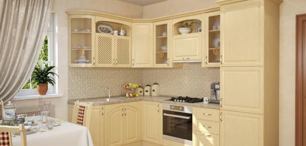 Кухня в классическом стиле Юлия Лайт Береза фото