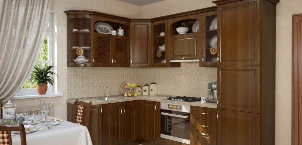 Кухня в классическом стиле Юлия Лайт Орех фото