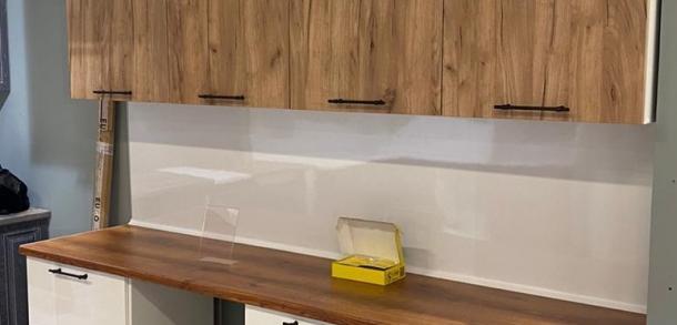 Кухня в современном стиле Фиджи Лайт Силк сноу Дуб Тортуга
