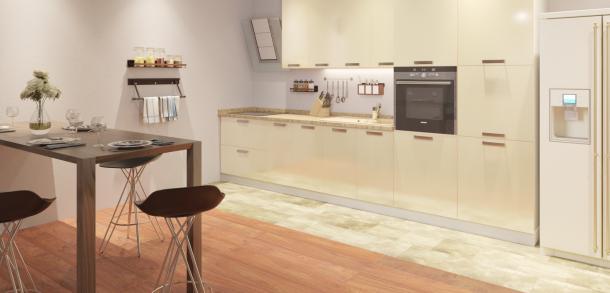 Кухня в стиле модерн Фиджи Лайт Ваниль фото