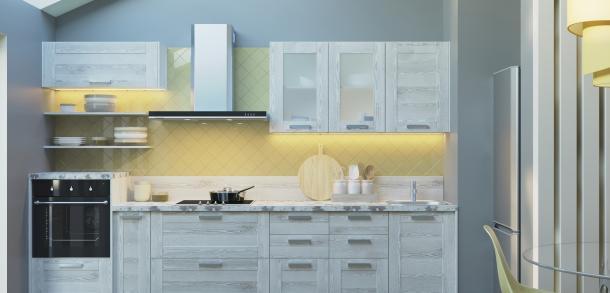 Кухня в стиле модерн Фиеста Лайт Сосна белая фото