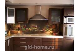 Кухонный фартук из ABS пластика Вино в интерьере 1