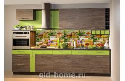 Кухонный фартук из ABS пластика Мед в интерьре