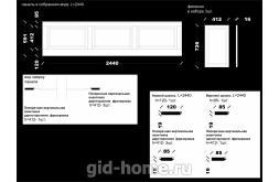 Декоративные панели Барокко с объемной филенкой 591 мм схема