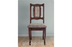 Деревянный стул со спинкой Арина цвет орех ткань 4с