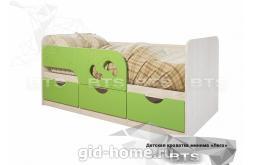 Детская кровать Минима Лего лайм глянец