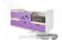 Детская кровать Минима Лего лиловый сад