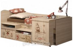 Детская кровать со столом Квест №12 1151×1906×838