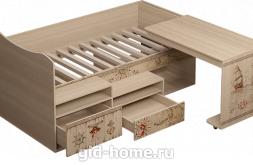 Детская кровать со столом Квест №12 1151×1906×838 фото