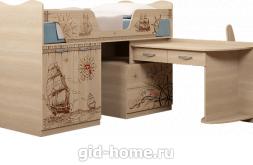 Детская кровать со столом  Квест №9 1088×1836×1192 фото 1