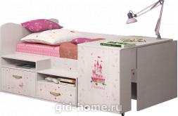 Детская кровать со столоми Принцесса №12 1151×1906×838