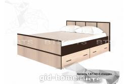 Двухспальная кровать 1,4 Сакура 1550x860x2034