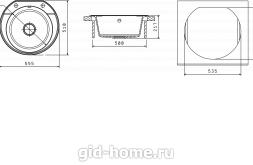 Мойка для кухни Эльба схема