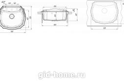 Мойка для кухни Эмилия 640 схема
