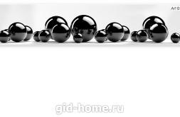 Фартук для кухни Черные шары артикул 0103