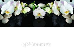 Фартук для кухни из МДФ Белая орхидея   695х2070х4мм