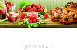 Фартук для кухни из МДФ Клубника   695х2070х4мм