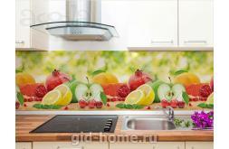 Кухонный фартук из ABS пластика Фрукты в интерьере