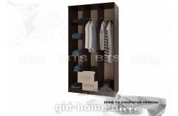 Фиеста шкаф 3-х створчатый ШхВхГ1200x2216x610 схема