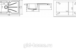 Мойка для кухни Гаттинара 780 схема