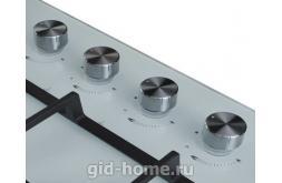 Газовая встраиваемая варочная панель Midea 4 конфорочная MG 685 TGW фото 2