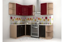 Кухонный фартук из ABS пластика Герберы в интерьере 4
