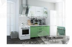 Готовая кухня Бьянка 1,5м Салатовые блестки