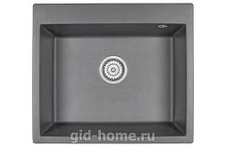 Гранитная мойка для кухни Granula GR-6001 графит 600х520мм