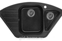 Гранитная мойка для кухни Granula GR-9101 чёрный 890х490мм
