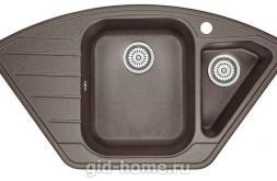 Гранитная мойка для кухни Granula GR-9101 эспрессо 890х490мм
