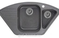 Гранитная мойка для кухни Granula GR-9101 графит 890х490мм