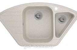 Гранитная мойка для кухни Granula GR-9101 классик 890х490мм