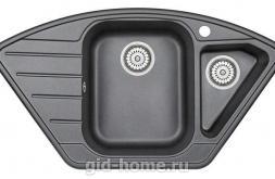 Гранитная мойка для кухни Granula GR-9101 шварц 890х490мм