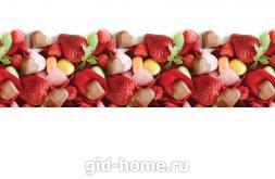 Кухонный фартук из АBS пластика Клубника шоколад