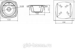 Мойка для кухни Корсика схема
