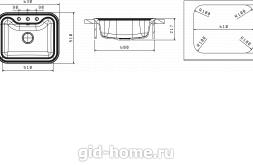 Мойка для кухни Крит 630 схема