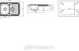 Мойка для кухни Крит 780 схема