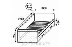 Кровать детская одинарная с ящиками Ультра №12 968×2064×702 схема