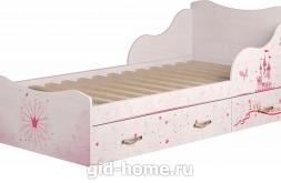 Кровать детская одинарная с ящиком (компл.1) Принцесса №5 1936×980×758 фото