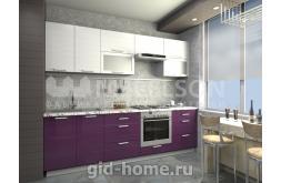 Кухня Виктория белый баклажан